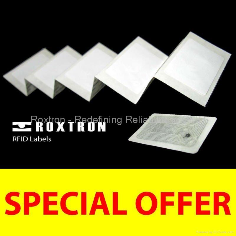 ROXTRON EM4102 Adhesive Paper Label
