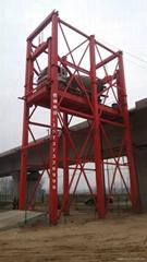 高铁路桥罐车升降平台