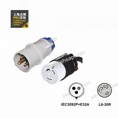 IEC60309 32A- Nema L6-30R 3米 3X4m㎡服務器 路由器 PDU電源線