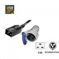 IEC320 C20 IEC309 16A 2P+E 服務器 路由器 PDU 電源線 1