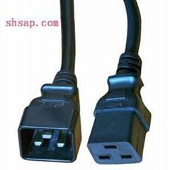 IEC320 C20-C19 3M 3X1.5m㎡ 16A PDU电源线