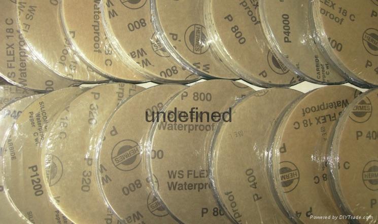 德國HERMES WS FLEX 18C ® Paper(碳化硅)耐水研磨砂紙 1