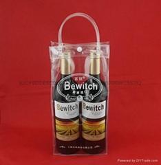 专业生产红酒透明礼品袋批发葡萄酒手提袋