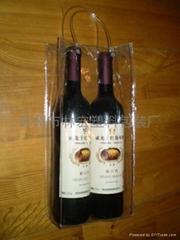 厂家直销葡萄酒透明手提袋红酒礼品袋