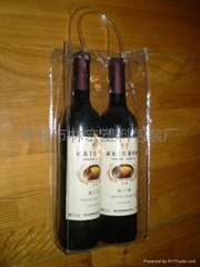 廠家直銷葡萄酒透明手提袋紅酒禮品袋