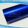 Matt Chrome Metallic Blue Car Vinyl