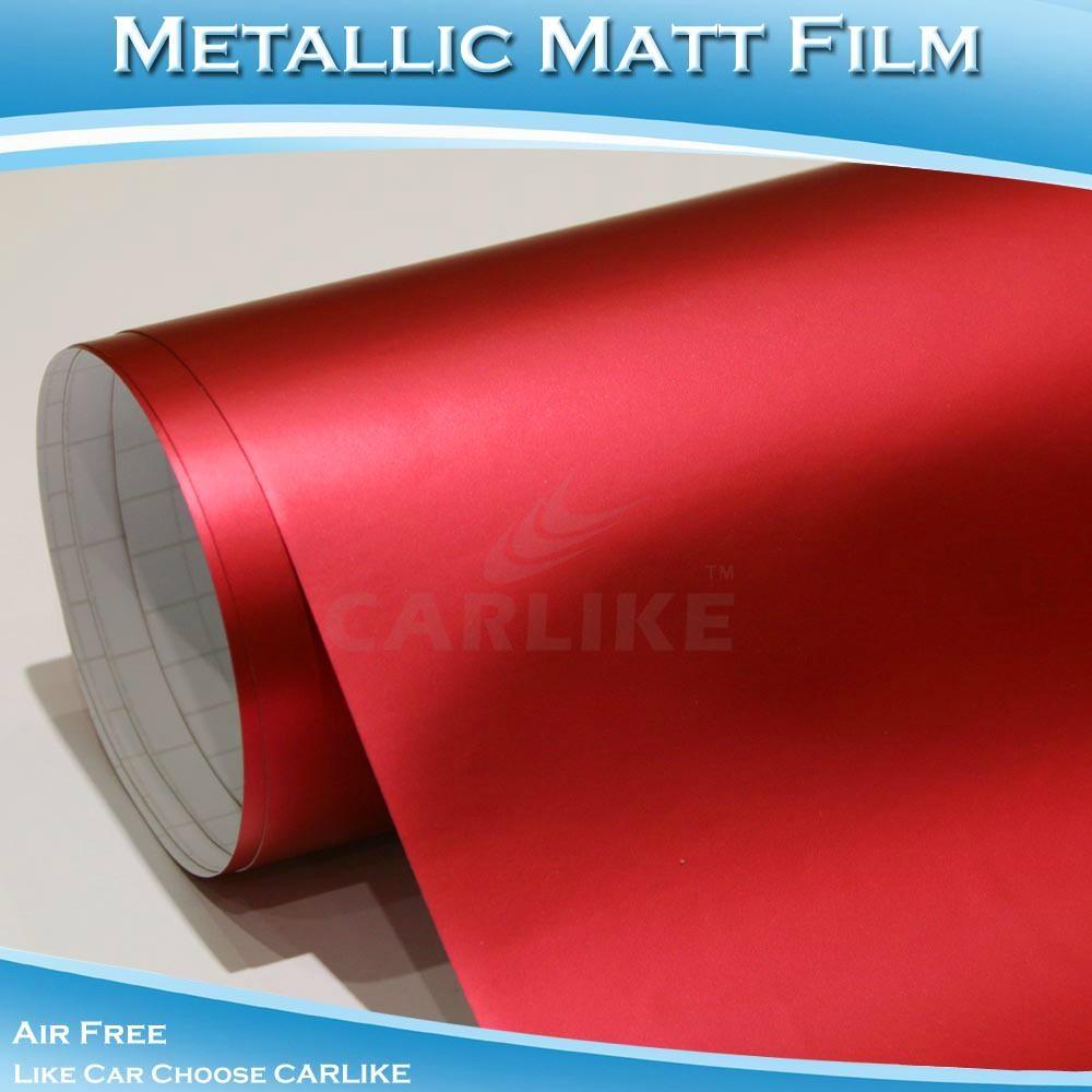 CARLIKE高品質紅色金屬電鍍啞光冰膜 1