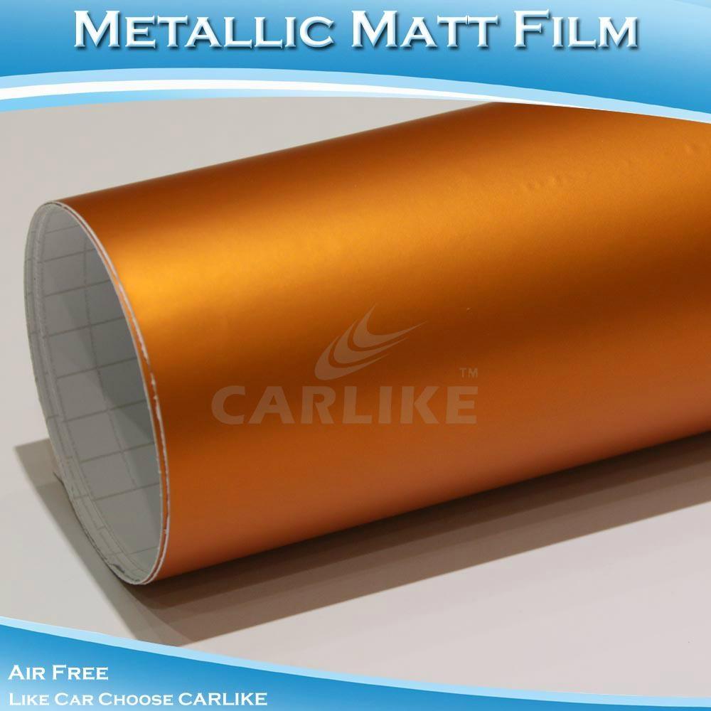 CARLIKE橙色啞光金屬電鍍改色冰膜 2