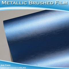 CARLIKE CL5606 Chrome Metallic Brushed Satin Pearl Blue Car Color Film