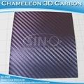 3D变色龙碳纤维蓝色变紫色汽车