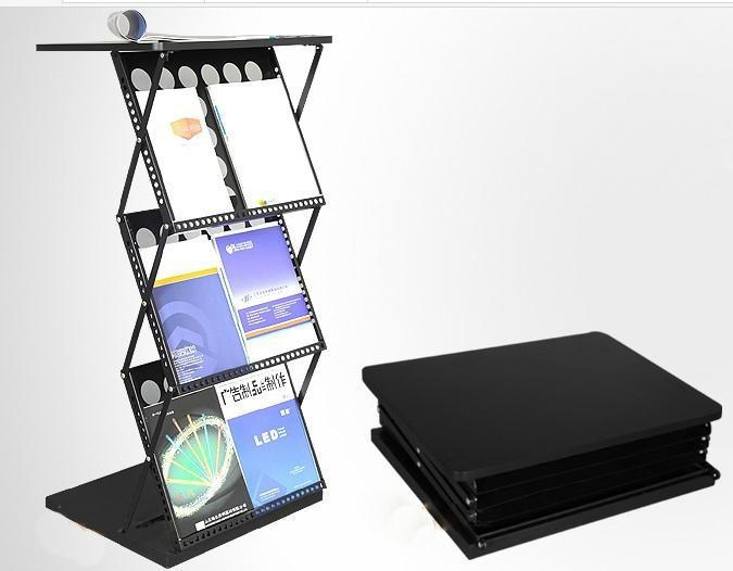 折疊資料架,前台資料架,帶台面折疊資料架,資料架