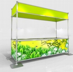 Portable trade show stand