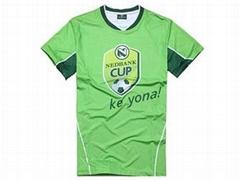 足球衣,运动衣,V领足球T恤,广告衣厂家,广州促销用品