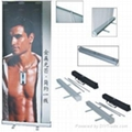 banner stand, roll up banner stand,