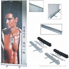 banner stand, roll up banner stand, banner display, sign, two side roll banner