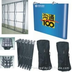 pop up displays, banner stands, exhibits