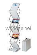折叠资料架,前台资料架,带台面折叠资料架,资料架