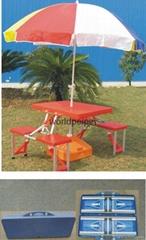 連體促銷桌,折疊桌椅,廣告折疊桌椅