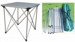 全铝折叠桌,铝折叠桌,铝方桌,小铝桌,铝休闲桌,折叠铝桌