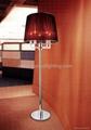 red floor lamp