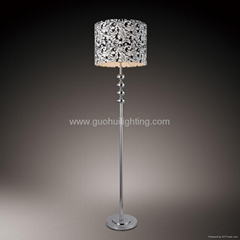 metal floor lamp with fabic shade