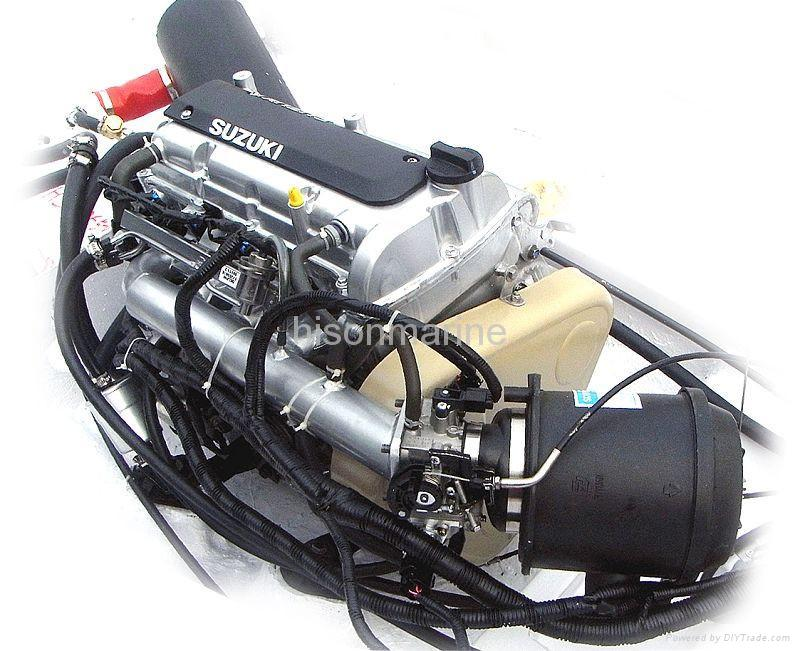 Jet boat with 230hp suzuki inboard engine china for 10 hp outboard jet motor