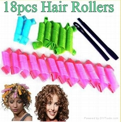 18pcs hair roller Hair Styling Roller Curler Leverag Tool For Spiral Curls
