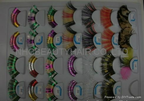 Fashion Feather eye lash &eye lashes  4