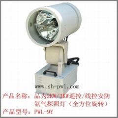 2KW/3KW遙控/線控旋轉氙氣探照燈