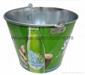 Colored Beer Metal Tin Ice Bucket