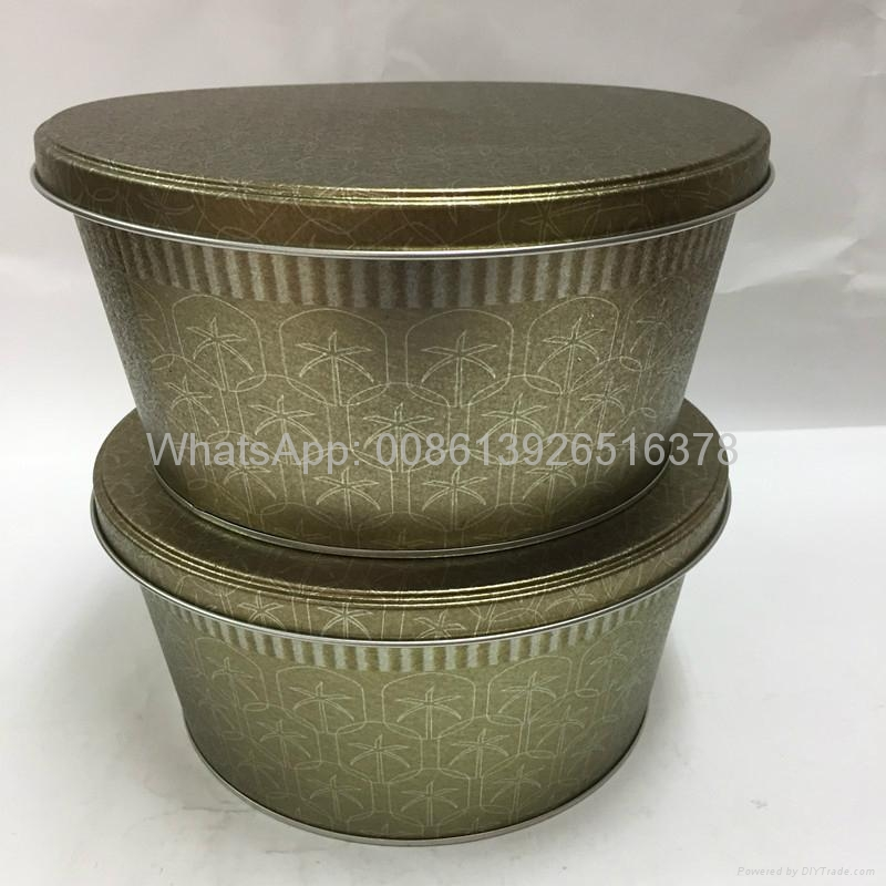 Metal Large Popcorn in Tins Containers 2