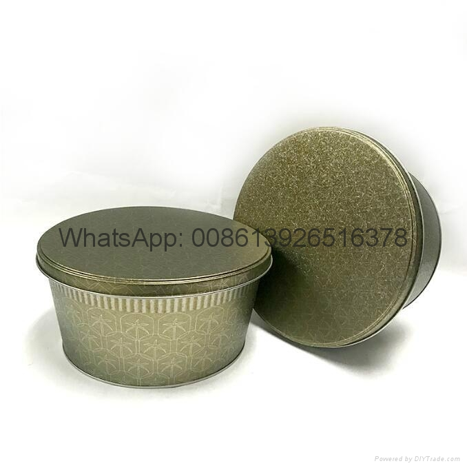 Metal Large Popcorn in Tins Containers 3