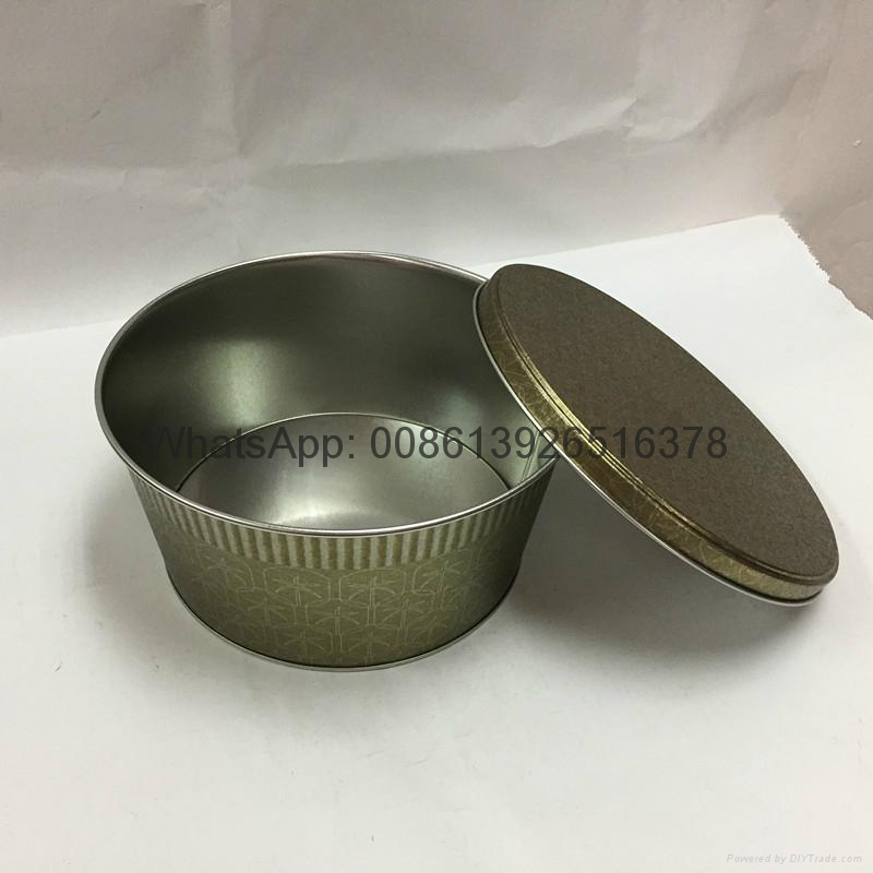 Metal Large Popcorn in Tins Containers 4
