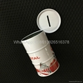 Round Coin Bank  Storage Box Metal Money-saving Tin Can 4