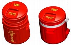 不助燃防火塑胶灭火沙桶