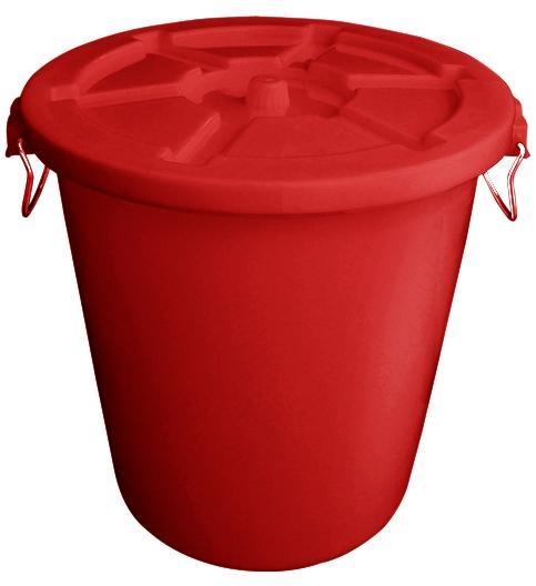 HDPE塑膠垃圾桶連蓋(65L-120L) 1