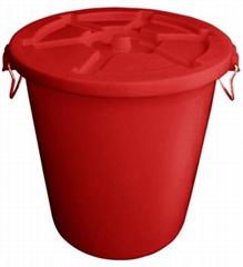 HDPE塑胶垃圾桶连盖(65L-120L)