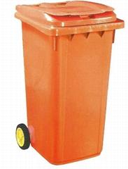 HDPE塑胶环保垃圾桶(240L)