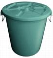 不助燃防火塑膠垃圾桶連蓋(45