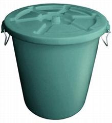 不助燃防火塑膠垃圾桶連蓋(45L-120L)