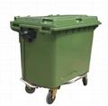 HDPE塑膠環保垃圾桶(660L)