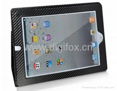 Carbon Fiber Leather Case With Camera Hole for iPad
