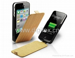 Supercharged Leather Power Case, Power Pack for iPhone