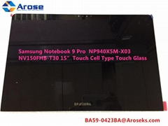 Samsung Notebook 9 Pro  NP940X5M-X03 NV150FHB-T30 BA59-0423BA 15