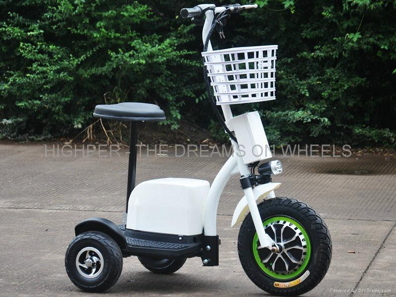 500W48V Electric 3 Wheel Scooter (HP105E-C)