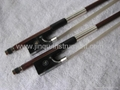 Violin Permumbuco bow with black horn