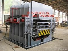 竹材工艺板竹地板热压机等成套加工机械