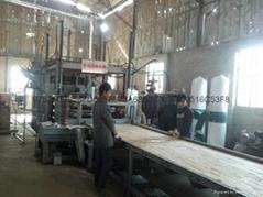自動化側壓高檔細木工板熱壓機成套設備