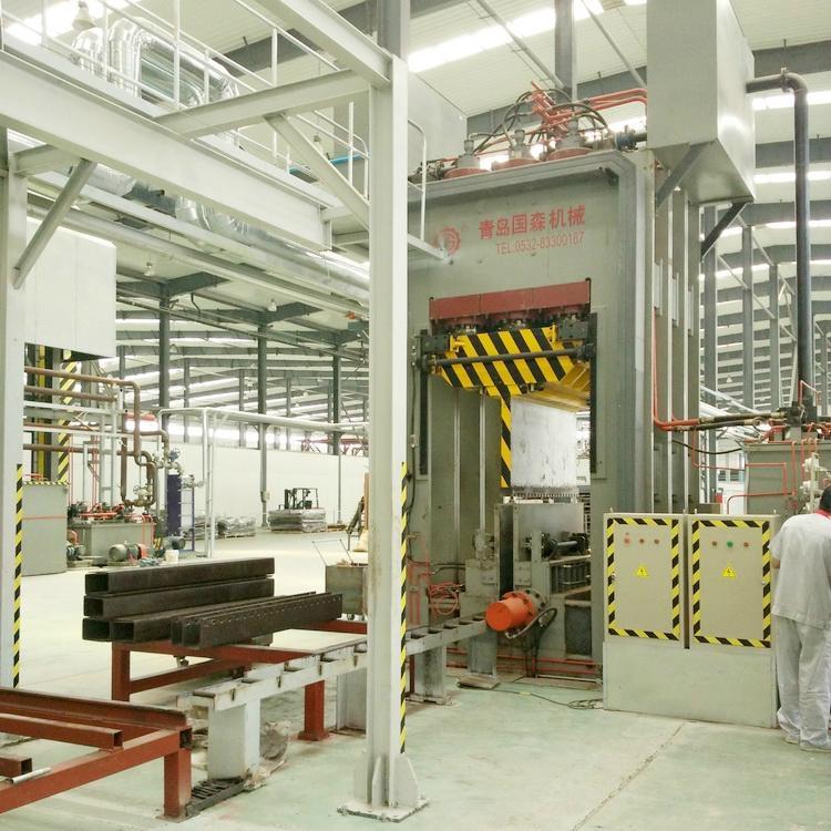 重組竹竹絲板壓機生產設備 1