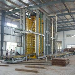 重组竹地板压机成套加工设备生产线